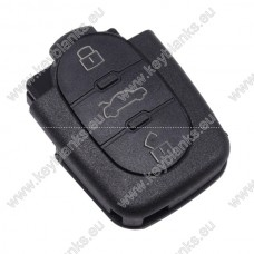 Audi 3 button remote case for 1616 battery