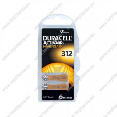 Battery for hearing aid DURACELL 312