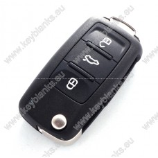 Skoda Original 3 button remote key 3TO 959 753 L 3TO 837 202 L with ID48 and 434Mhz